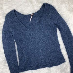 Free People   Alpaca Blend Lofty V Neck Sweater